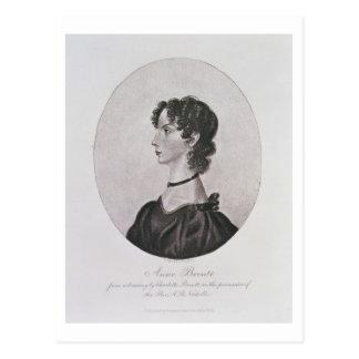Retrato de Anne Bronte (1820-49) de un dibujo i Tarjeta Postal