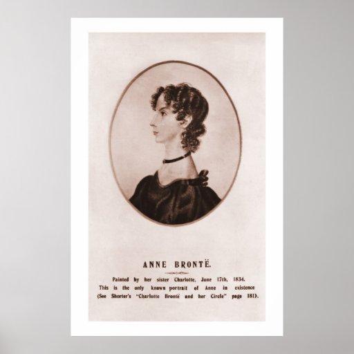 Retrato de Anne Brontë (sepia) Impresiones