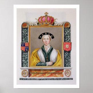 Retrato de Anne de 1515-57) 4tas reinas de Cleves  Póster