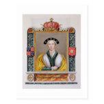 Retrato de Anne de 1515-57) 4tas reinas de Cleves Postal