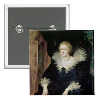 Retrato de Anne de Austria c.1622 Pin Cuadrado