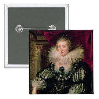 Retrato de Anne de la infanta de Austria de España Pin Cuadrado