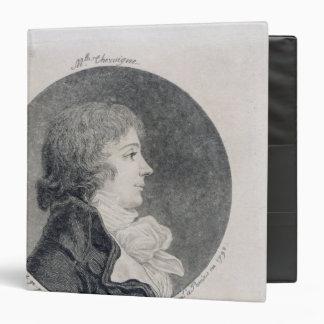 "Retrato de Anne-Josephe Trewagne Carpeta 1 1/2"""