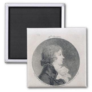 Retrato de Anne-Josephe Trewagne Imán Cuadrado