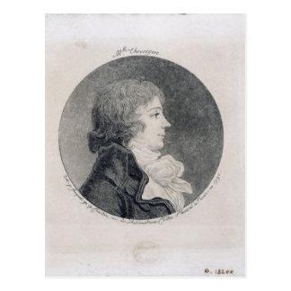 Retrato de Anne-Josephe Trewagne Postal