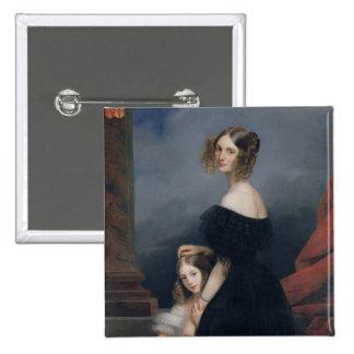 Retrato de Anne-Louise Alix de Montmorency Pin Cuadrado
