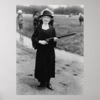 Retrato de Annie Oakley Póster