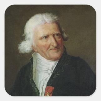 Retrato de Antoine Agustín Parmentier Pegatinas Cuadradas
