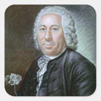 Retrato de Antoine Agustín Parmentier Calcomania Cuadradas Personalizadas