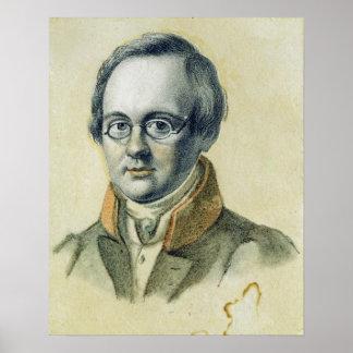 Retrato de Antón A. Delvig, 1830 Póster