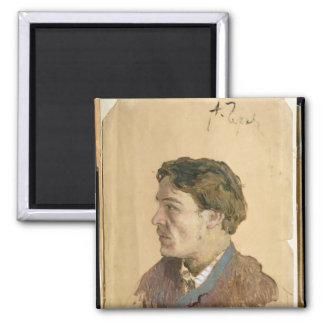 Retrato de Antón Chekhov Imán Cuadrado