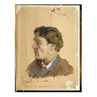 Retrato de Antón Chekhov Postal
