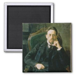 Retrato de Antón Pavlovich Chekhov, 1898 Imán Cuadrado