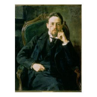 Retrato de Antón Pavlovich Chekhov, 1898 Postal
