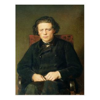 Retrato de Antón Rubinstein 1870 Postal
