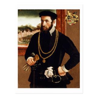 Retrato de Antón Rummel von Liechtenan Postal