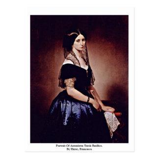 Retrato de Antonietta Tarsis Basilico. Postales
