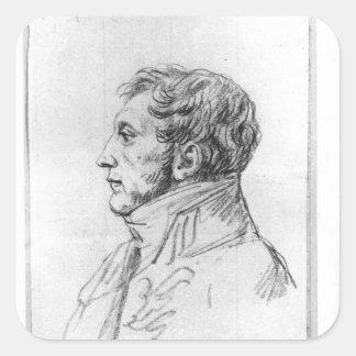 Retrato de Armand Agustín Louis Calcomanía Cuadradas Personalizadas