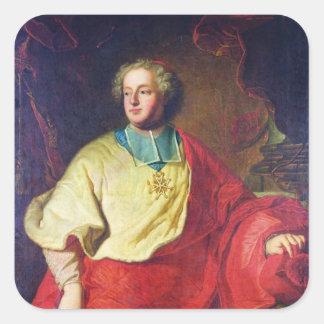 Retrato de Armand Gastón Maximiliano de Rohan Pegatina Cuadrada