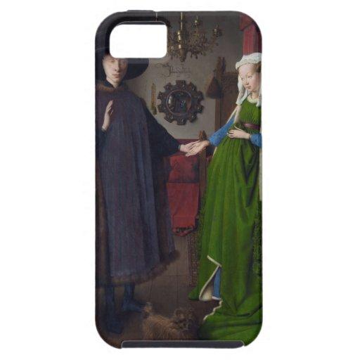 Retrato de Arnolfini - Jan van Eyck iPhone 5 Case-Mate Fundas