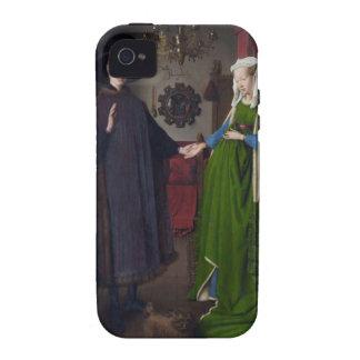 Retrato de Arnolfini - Jan van Eyck Case-Mate iPhone 4 Carcasa