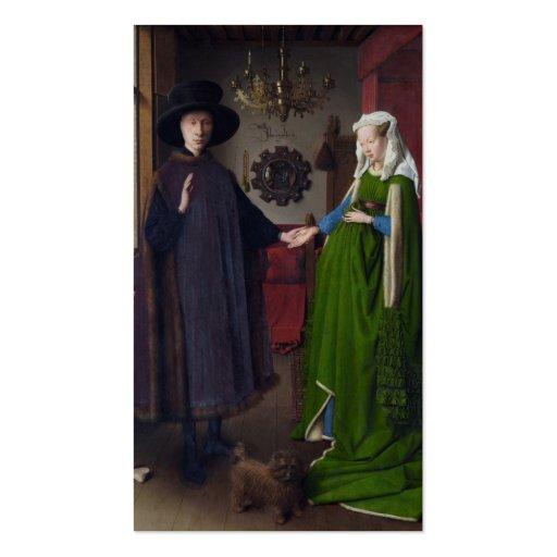Retrato de Arnolfini - Jan van Eyck Tarjeta De Visita
