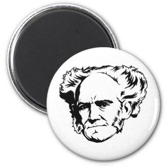 Retrato de Arthur Schopenhauer Imán Redondo 5 Cm