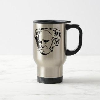 Retrato de Arthur Schopenhauer Taza De Viaje De Acero Inoxidable