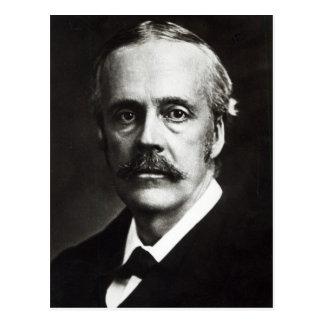 Retrato de Arturo James Balfour Tarjeta Postal