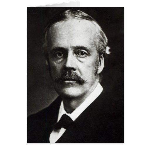 Retrato de Arturo James Balfour Tarjeton