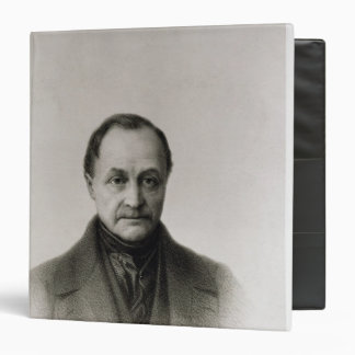 """Retrato de Auguste Comte, filósofo francés Carpeta 1 1/2"""""""