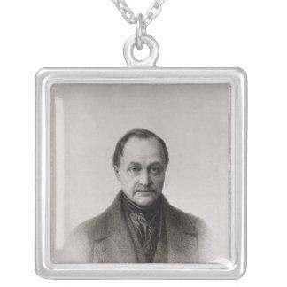 Retrato de Auguste Comte, filósofo francés Collar Plateado