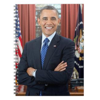 Retrato de Barack Obama Libro De Apuntes Con Espiral