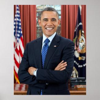 Retrato de Barack Obama Póster