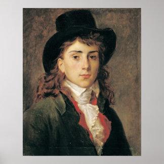 Retrato de barón Antoine Jean Gros envejecido 20 Poster