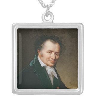Retrato de barón Denon, 1808 de Dominique Vivant Colgante Cuadrado