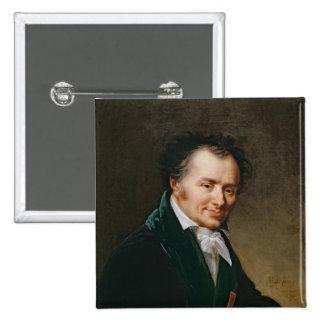 Retrato de barón Denon, 1808 de Dominique Vivant Pin Cuadrado