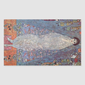 Retrato de baronesa Elisabeth Bachofen por Klimt Rectangular Pegatina