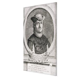 Retrato de Baruch o de Benedicto Spinoza Impresión En Lienzo