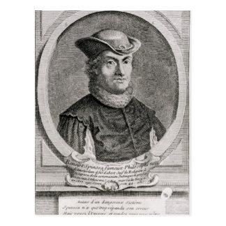 Retrato de Baruch o de Benedicto Spinoza Tarjetas Postales