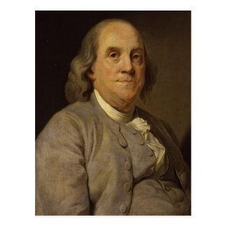 Retrato de Ben Franklin Tarjeta Postal