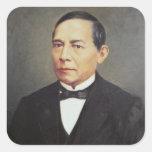Retrato de Benito Juarez, 1948 Colcomanias Cuadradas