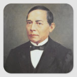 Retrato de Benito Juarez, 1948 Pegatina Cuadrada