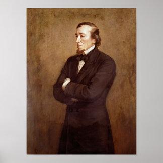 Retrato de Benjamin Disraeli Póster