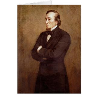 Retrato de Benjamin Disraeli Tarjeta De Felicitación