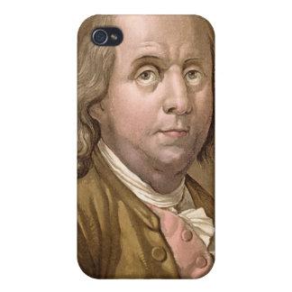 Retrato de Benjamin Franklin (1706-90), del 'Le iPhone 4 Carcasas