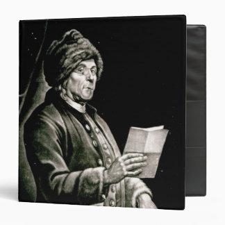 "Retrato de Benjamin Franklin, 1777 Carpeta 1 1/2"""