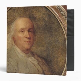 "Retrato de Benjamin Franklin, c.1780 Carpeta 1 1/2"""