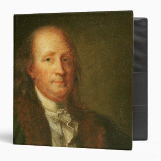 "Retrato de Benjamin Franklin Carpeta 1 1/2"""