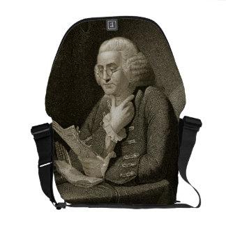 Retrato de Benjamin Franklin, grabado por Thomas Bolsa De Mensajeria